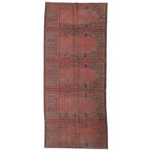 RugVista Vintage Teppe 129X304 Shabby Chic/Overdyed Håndknyttet Moderne Teppeløpere Ull Brun/Mørk Rød