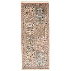 Kashmir ren silke  teppe 80x190 Orientalsk, Løpere Teppe
