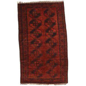 RugVista 115X194 Afghan Khal Mohammadi Teppe Ekte Orientalsk Håndknyttet Mørk Rød/Rust (Ull, Afghanistan)