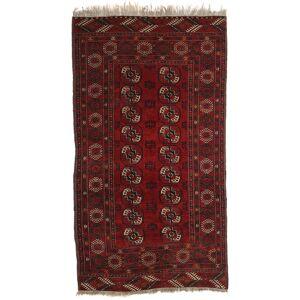RugVista Afghan Khal Mohammadi Teppe 115X209 Ekte Orientalsk Håndknyttet Mørk Rød (Ull, Afghanistan)