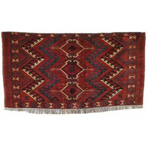 RugVista Afghan Khal Mohammadi Teppe 89X147 Mørk Rød/Svart (Ull, Afghanistan)