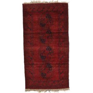 RugVista 112X214 Afghan Khal Mohammadi Teppe Ekte Orientalsk Håndknyttet Mørk Rød/Mørk Brun (Ull, Afghanistan)