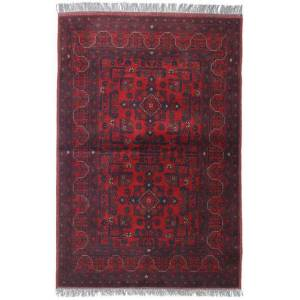 Håndknyttet. Opphav: Afghanistan 105X152 Orientalsk Afghan Khal Mohammadi Teppe Mørk Rød/Mørk Lilla/Mørk Brun (Ull, Afghanistan)