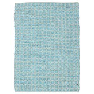 RugVista Elna - Bright_Blue Teppe 140X200 Ekte Moderne Håndvevd Lys Blå/Turkis Blå (Bomull, India)
