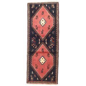 Håndknyttet. Opphav: Persia / Iran Håndknyttet Teppe Klardasht 75X190 Teppeløpere Mørk Grå/Mørk Rød (Ull, Persia/Iran)
