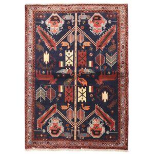 Håndknyttet. Opphav: Persia / Iran Persisk Hamadan Teppe 110X155 Mørk Lilla/Mørk Rød (Ull, Persia/Iran)