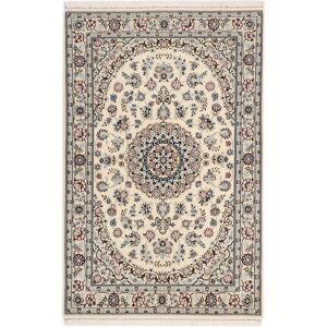 Håndknyttet. Opphav: Persia / Iran Persisk Nain 6La Teppe 105X160 Lys Grå/Beige (Ull/Silke, Persia/Iran)