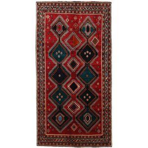 Håndknyttet. Opphav: Persia / Iran 145X278 Orientalsk Ghashghai Teppe Teppeløpere Mørk Brun/Mørk Rød (Ull, Persia/Iran)