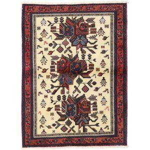 Håndknyttet. Opphav: Persia / Iran Afshar Shahre Babak Teppe 100X136 Ekte Orientalsk Håndknyttet Mørk Brun/Beige (Ull, Persia/Iran)