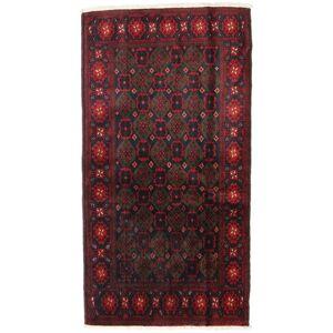Håndknyttet. Opphav: Persia / Iran Orientalsk Beluch Teppe 110X200 Mørk Rød (Ull, Persia/Iran)