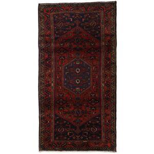 Håndknyttet. Opphav: Persia / Iran Orientalsk Hamadan Teppe 105X200 Mørk Brun/Mørk Rød (Ull, Persia/Iran)