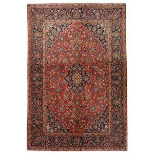 Håndknyttet. Opphav: Persia / Iran 138X206 Keshan Teppe Ekte Orientalsk Håndknyttet Mørk Brun/Mørk Rød (Ull, Persia/Iran)