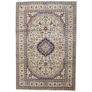 Håndknyttet. Opphav: Persia / Iran Ekte Teppe Nain 242X351 Lys Grå/Beige (Ull, Persia/Iran)