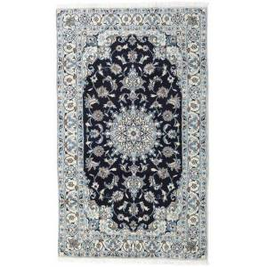 Håndknyttet. Opphav: Persia / Iran Håndknyttet Teppe Nain 120X200 Lys Grå/Mørk Lilla (Ull, Persia/Iran)