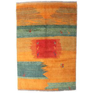 Håndknyttet. Opphav: Persia / Iran Håndknyttet Teppe Gabbeh Rustic 197X295 Orange/Olivengrønn (Ull, Persia/Iran)