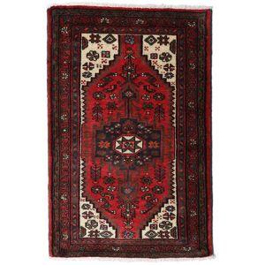 Håndknyttet. Opphav: Persia / Iran Hamadan Teppe 80X125 Ekte Orientalsk Håndknyttet Mørk Brun/Mørk Rød (Ull, Persia/Iran)