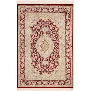 Håndknyttet. Opphav: Persia / Iran Ghom Silke Teppe 98X145 (Silke, Persia/Iran)