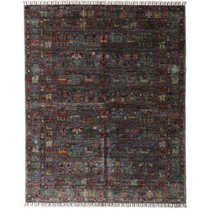 Håndknyttet. Opphav: Afghanistan Ekte Teppe Shabargan 159X195 Mørk Brun/Mørk Grå (Ull, Afghanistan)