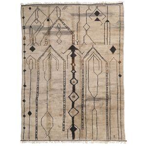 Håndknyttet. Opphav: Morocco Håndknyttet Teppe Berber Moroccan - Mid Atlas 308X420 Lys Grå Stort (Ull, Marokko)