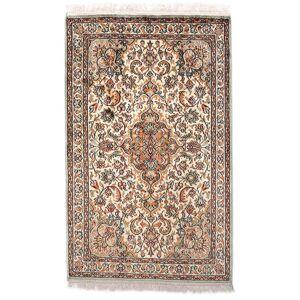 Håndknyttet. Opphav: India 60X96 Orientalsk Kashmir Ren Silke Teppe Beige/Mørk Brun (Silke, India)
