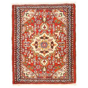Håndknyttet. Opphav: Persia / Iran Lillian Teppe 55X69 Mørk Rød/Rød (Ull, Persia/Iran)
