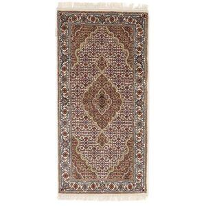 Håndknyttet. Opphav: India 75X150 Tabriz Royal Teppe Ekte Orientalsk Håndknyttet Lys Grå/Beige ( India)