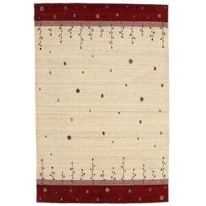 Håndknyttet. Opphav: India 165X246 Loribaf Loom Teppe Ekte Moderne Håndknyttet Beige/Rød (Ull, India)