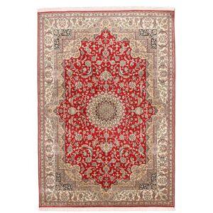 Håndknyttet. Opphav: India Kashmir Ren Silke Teppe 152X219 Ekte Orientalsk Håndknyttet (Silke, India)