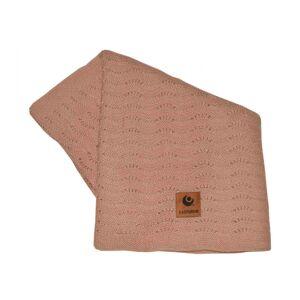 Easygrow, Grandma WAVE Blanket, Warm Pink Melange