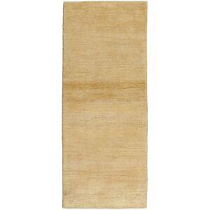 Handknuten. Ursprung: Persia / Iran Gabbeh Persisk Matta 79X196 Äkta Modern Handknuten Hallmatta Mörkbeige/Ljusbrun (Ull, Persien/Iran)