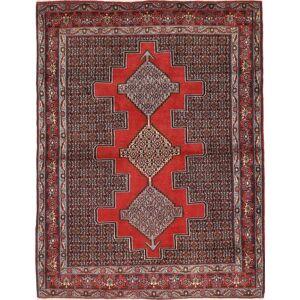 RugVista 126X170 Persisk Matta Handknuten Orientalisk Ull Mörkbrun/Mörkröd