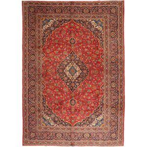 Handknuten. Ursprung: Persia / Iran 303X425 Orientalisk Keshan Matta Mörkbrun/Roströd Stor (Ull, Persien/Iran)