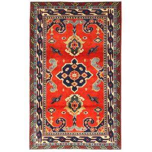 Handknuten. Ursprung: Azerbaijan / Russia Orientalisk Kazak Matta 105X173 Mörkgrå/Röd (Ull, Azarbaijan/Ryssland)