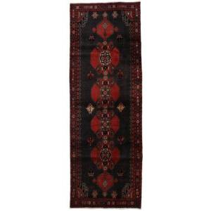 Handknuten. Ursprung: Persia / Iran Äkta Matta Ardebil 103X296 Hallmatta Mörkbrun/Mörkröd (Ull, Persien/Iran)