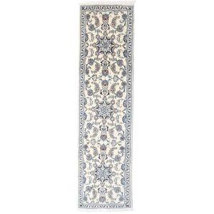 Handknuten. Ursprung: Persia / Iran Nain Matta 77X286 Äkta Orientalisk Handknuten Hallmatta Ljusgrå/Beige (Ull, Persien/Iran)