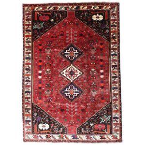 Handknuten. Ursprung: Persia / Iran Orientalisk Ghashghai Matta 201X287 Mörkröd/Röd (Ull, Persien/Iran)