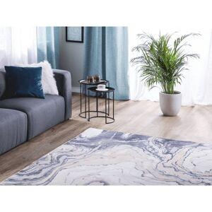 Beliani Matta 140 x 200 cm beige/blå GEBZE
