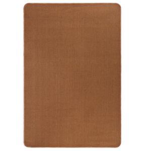 vidaXL Jutematta med latexundersida 140x200 cm brun
