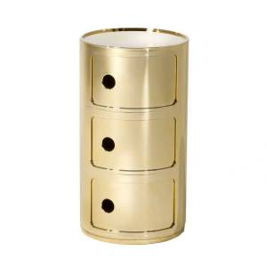 Kartell-Componibili Opbevaring 3 Rum, Gold