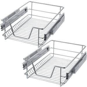 tectake 2 trådkurve til køkken- og soveværelsesskabe - 37 cm