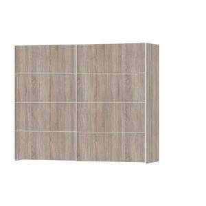 Veto klædeskab 2 dørs bredde 242 cm, trøffel farvet.