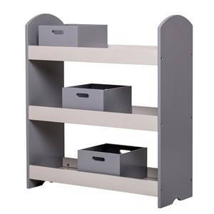 Bloomingville Bookcase with Drawers Grey Shelves