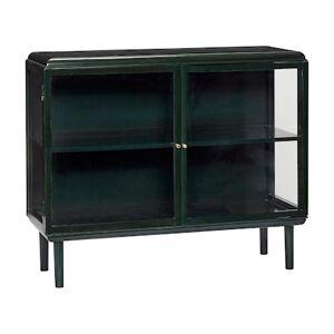 Hübsch Glasskap 120x45xh100 cm - Grønn/Messing Hübsch