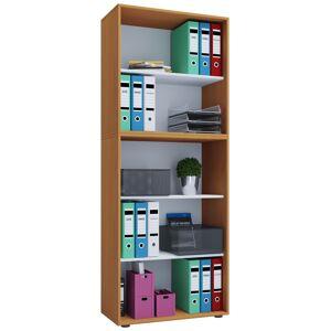 Lona XXL kontorhylle med 3 rom bøk dekor.