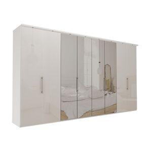 Garderob Atlanta - Vit 400 cm, 216 cm, Med kornisch