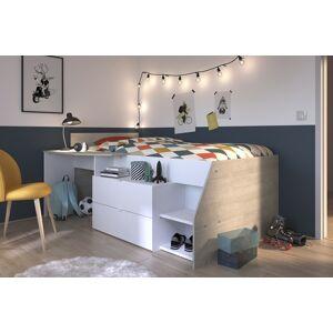 Parisot Halvhøy seng Milky 90×200
