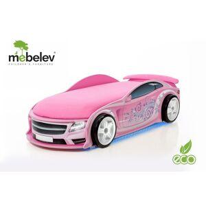 Drømmerom UNO Pink racerbilseng inkludert madrass! NYHET