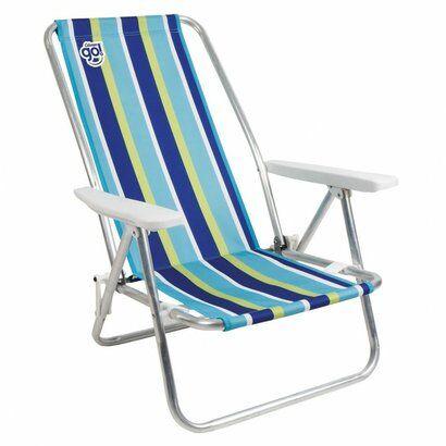 Cadeira de Praia Reclinvel Island Listrada - Unissex