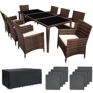 tectake Polyrattan havemøbelsæt Monaco - sort/brun