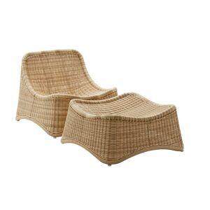 Sika-Design - ICONS Chill Loungestol og Krakk - Natur